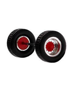 Aufliegerachse chrom/rot, 2x
