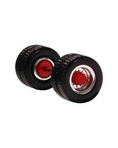 Antriebsachse, chrom/rot, 2x