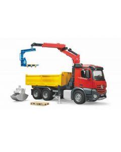 MB Arocs Baustellen-LKW mit Kran und Zubehör