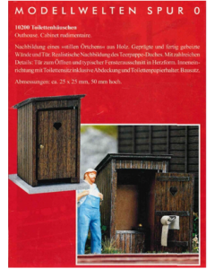 Toilettenhäuschen Bausatz 25x25x50mm