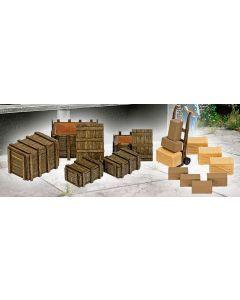 Bausatz Kisten mit Sackkarren