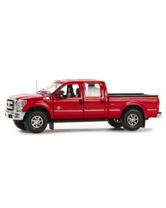 Ford F250 XLT Pickup Super Cab & 8' Bed - Red / Chrome