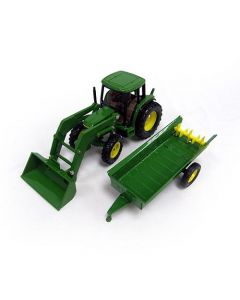 John Deere 6210 Tractor with Loader and Manure Spreader