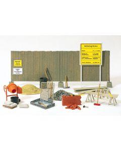 Bausatz, Betonmischer, Bauzaun, Wekzeug