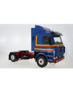 Scania 143 Topline, blau/Dekor