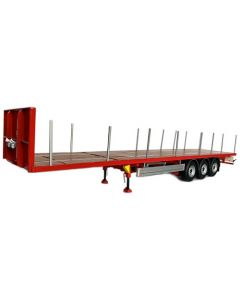 Pacton flatbed trailer red