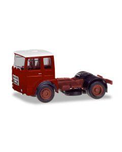Roman Diesel 4×2 Zugmaschine, braunrot / Dach weiß