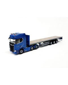 Scania S-HL&Flatbed trailer 3 axle