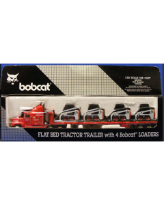 Flat bet Tracor trailer +4Bobcat Loaders