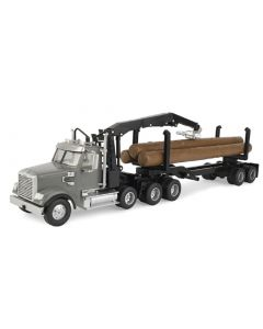 Freightliner Logging Truck with Three Logs