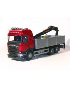 Scania R730 Streamline mit Ladekran red