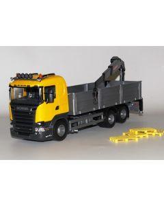 Scania R730 Kranwagen 3A gelb