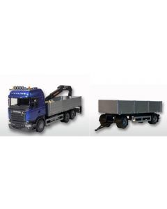 Scania HL offener Hängerzug blau