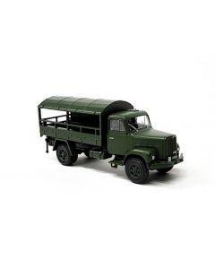 Saurer 2DM Militärlastwagen Plane seitlich offen