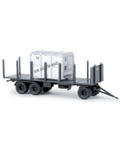 "Rungen-Anhänger + Container ""DB"""