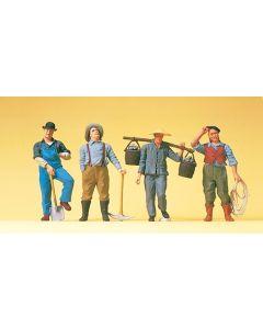 US Bahnarbeiter Dampflokzeit