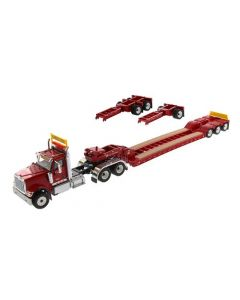 International HX520 Tractor with XL 120 Lowboy red