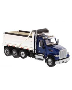 Peterbilt 567 Dump Truck Blue with Chrome Dump
