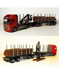Volvo FH04 Holzhängerzug 3/4A rot