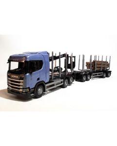 Scania R450 6x4 Holzhängerzug
