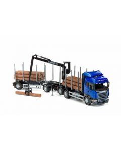 Scania R HL V8 Holzhängerzug 3/2a blau