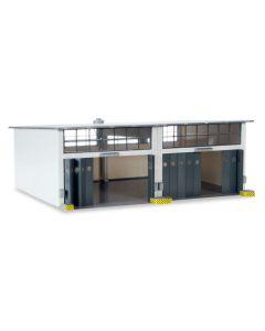 Military: Gebäudebausatz Reparaturhalle, 220x190x85mm