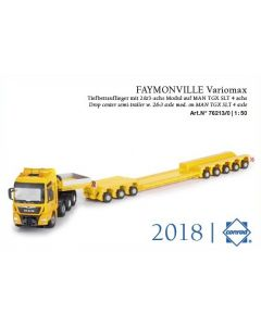 MAN TGX SLT 4a FAYMONVILLE Variomax Tiefbettauflieger
