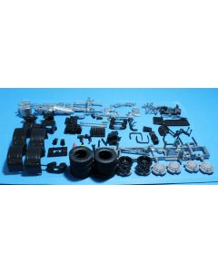 MB Actros 6x2 twinsteer chassis kit