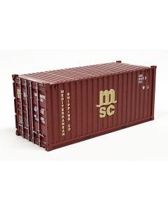 "20ft Container ""MSC"" braun"