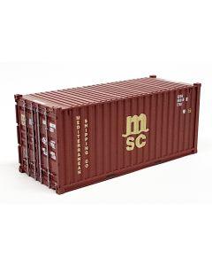 "20ft Container (22G1) ""MSC"" braun"