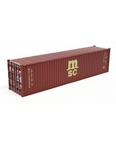 "40ft Container ""MSC braun"