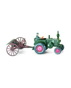 Lanz Bulldog Schlepprechen mit Traktor