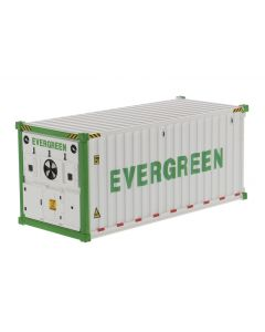 Evergreen - 20' Refrigerated Shipping Container in White