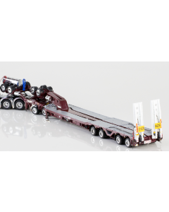 2X8 DOLLY AND 4X8 TRAILER Burgundy