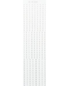 Grossbuchstaben 2mm, silber