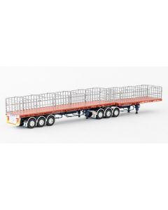 MaxiTRANS B Double Flat Trailer Set - Drake
