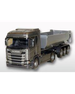 Scania CR Next HL 4x2 3a Kipper, graugrün / silber
