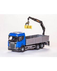 Scania CR 500 Next G. Pritsche+Ladekran blau