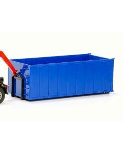 Absetzcontainer hoch blau