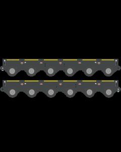 Kamag K25 Modular Trailer 2 x 6 Axle with PPU and Drawbar grey