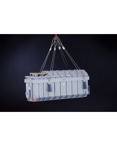 Heavy Transformer with Lifting Cables
