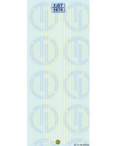Lkw-Reflexstreifen - Leuchtgelb