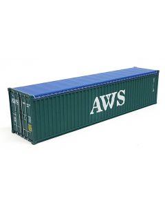 "40ft Container Open Top + 6x Reifen ""AWS"""