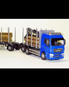 MAN TGS Timber Truck 3/4A blau