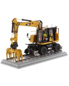 CAT M323F Railroad Wheeled Cat Yellow